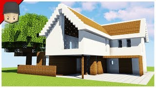 How to Build a Modern House in Minecraft (Minecraft House Tutorial)