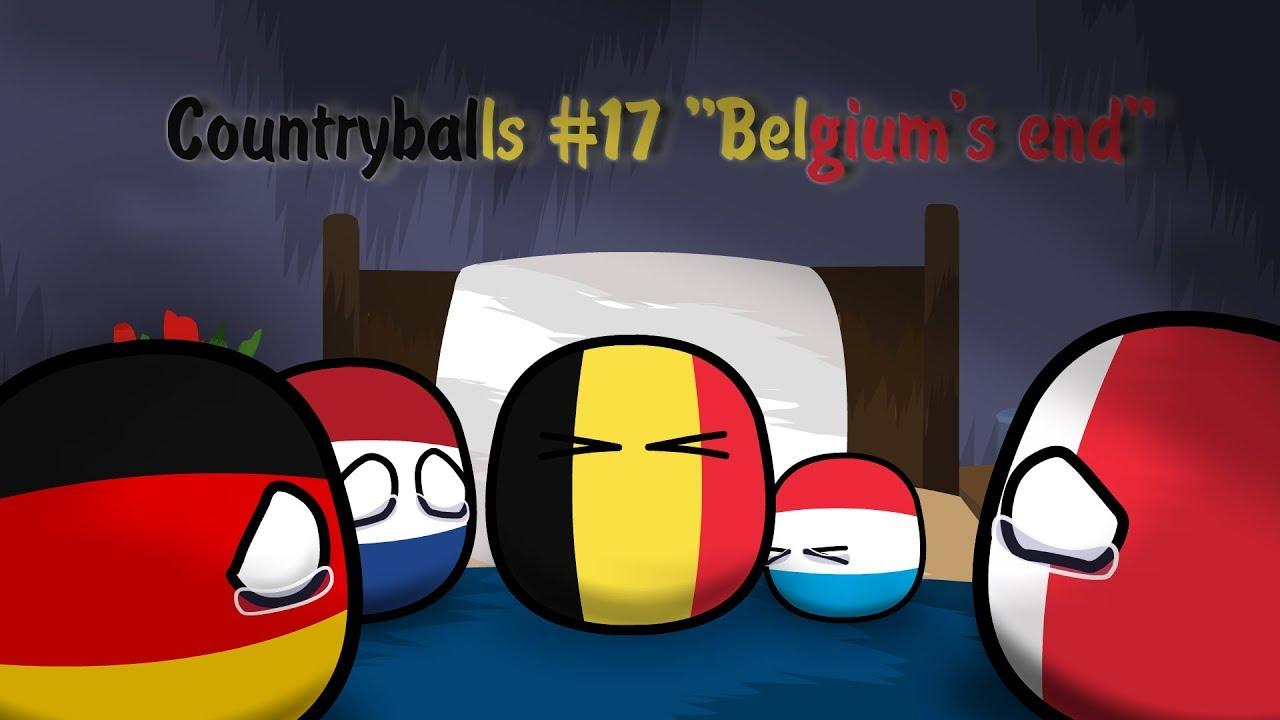 Belgiumball Countryballs Sticker By Cartoonfanunited