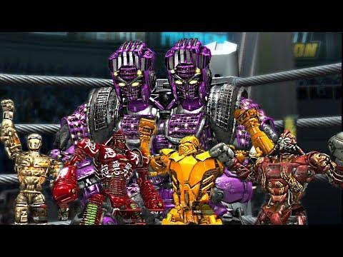 REAL STEEL THE VIDEO GAME-TWIN CITIES vs METRO & AMBUSH, NOISY BOY, MIDAS, ATOM, ZEUS (ЖИВАЯ СТАЛЬ)
