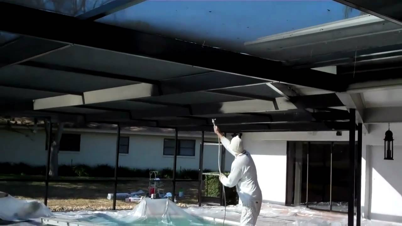 Painting Pool Cage Youtube