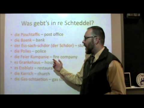 PA Dutch 101: Video 36 - Places in a Town.m4v