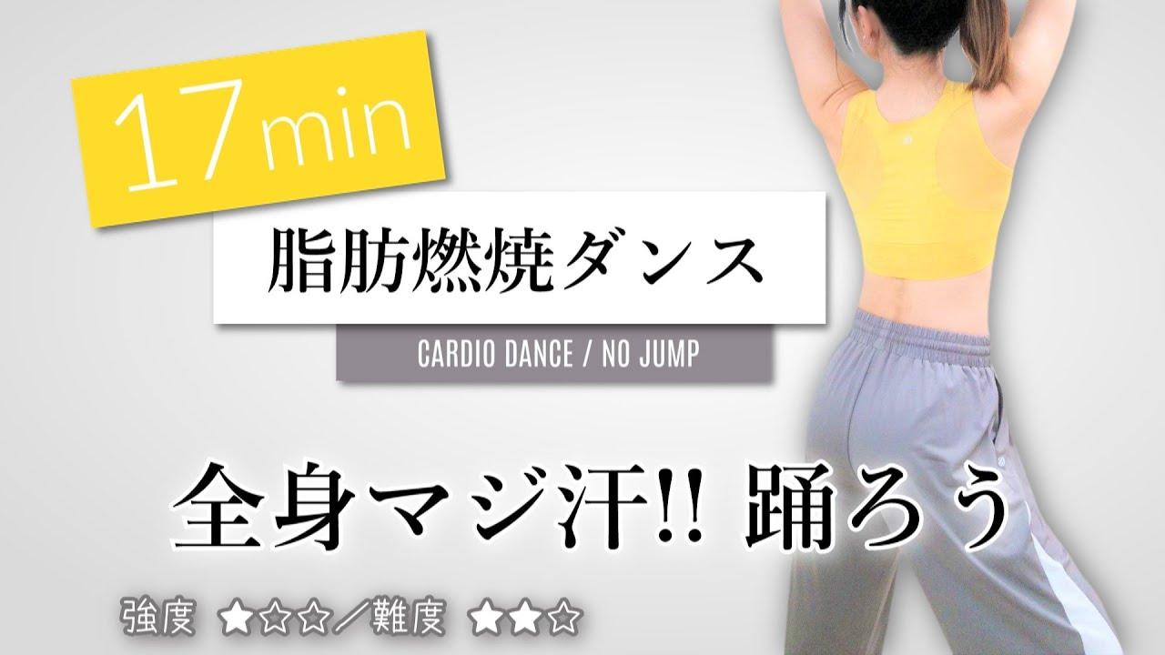 全身マジ汗!!【脂肪燃焼ダンス/静かに動けるジャンプなし】エアロビクスでダイエット #221