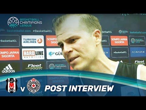 Michael Roll: Post Interview   Besiktas v Partizan   Basketball Champions League