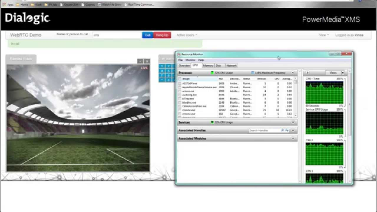 Developing a simple WebRTC Videoconferencing demo