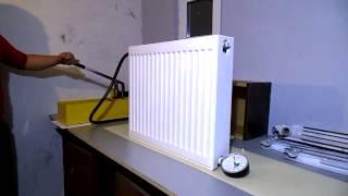 видео Радиатор отопления стальной