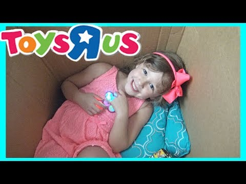 I Mailed Myself In A Box To Toys R Us IT WORKED! Sisters Pretend Play Fun The Disney Toy Collector