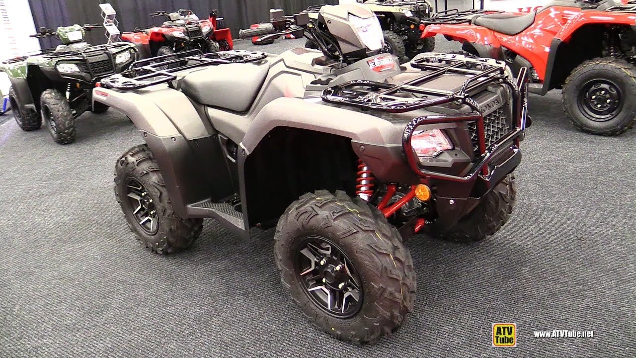 2018 Honda Rubicon 500 IRS EPS Recreational ATV - Walkaround - 2017  Drummondville ATV Show