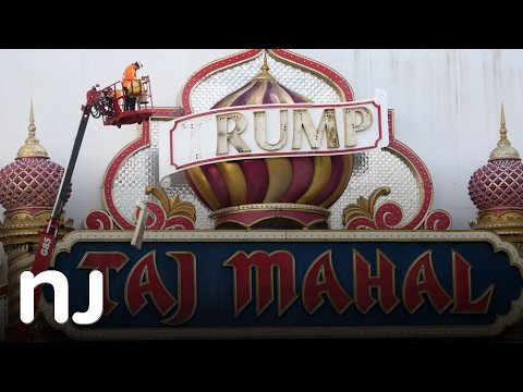 Trump signs removed from Taj Mahal casino in Atlantic City