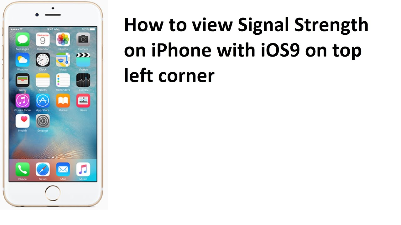 iphone signal strength how to view signal strength rssi on ios9 apple iphone 6 12313