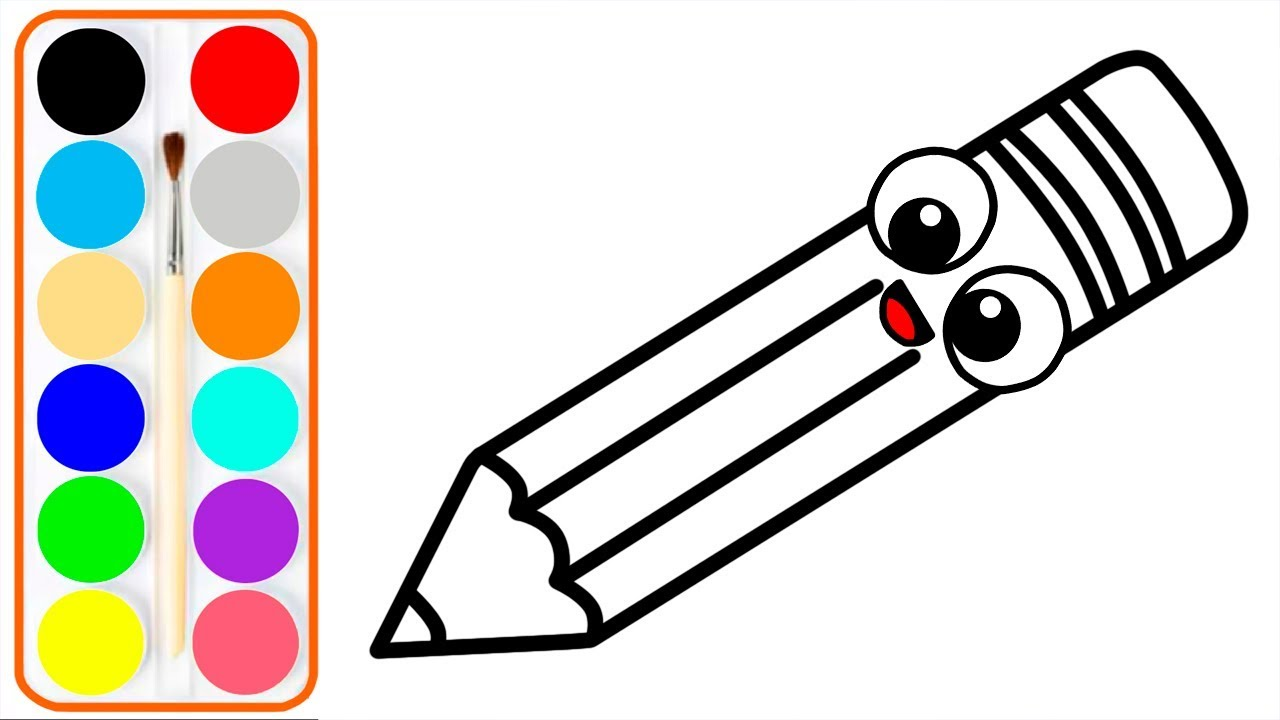 Dibujar Y Colorear Utiles Escolares Videos Para Niños Learn Colors Toc Toc Art
