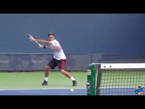 Roger Federer Slow Motion Forehand & Slice Backhand 240FPS 1080p