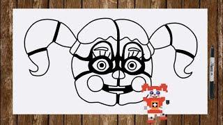 Speed drawing All FNAF Sister Location char. - Ballora BidyBab Bonnet Circus Baby Ennard