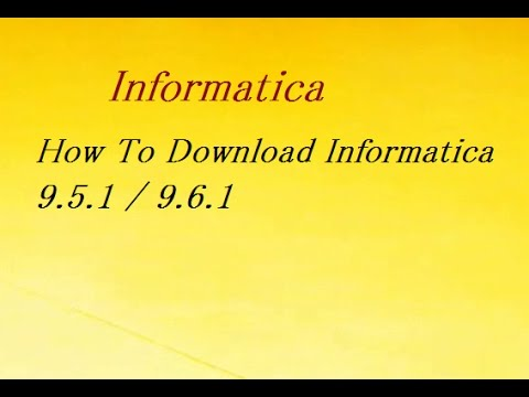 How to download & install informatica powercenter.