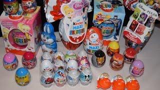30 Kinder Surprise Eggs Frozen Batman Cars Joy Maxi Easter
