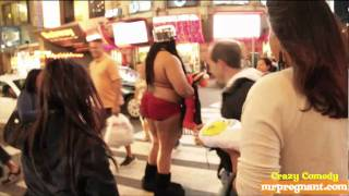 NEW YORK CITY - Man In Panties Walkathon - red victoria secret lingerie - 3 (42nd st and 7th ave)