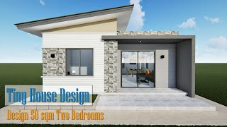 Tiny House Design 50 Sqm/ Two Bedrooms. Watch Now!!!