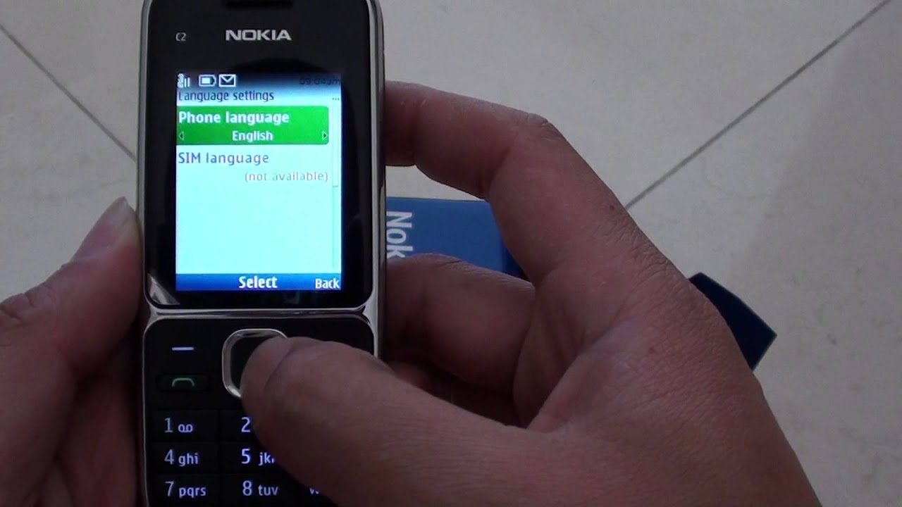 Nokia C2-01: How to Change System Language