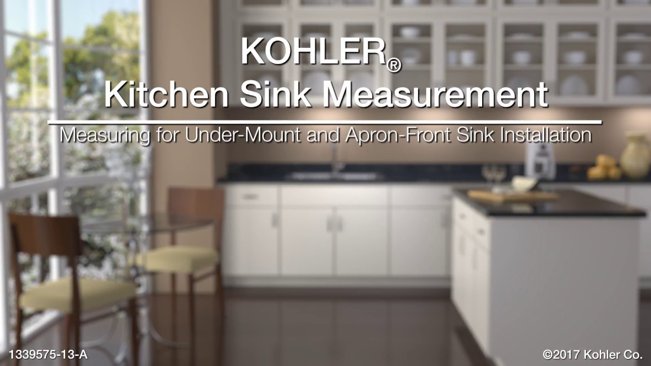 Measuring For Under Mount And Apron Front Sink Installations