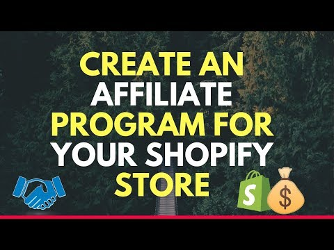 How To CREATE An Affiliate Program For Your Shopify Dropshipping Store thumbnail