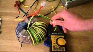 Toroidial high current transformer (540A 5V AC)