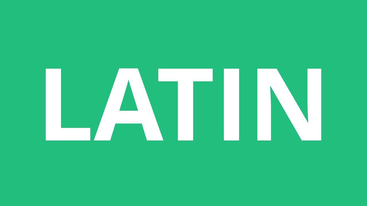 Online Latin Pronunciation