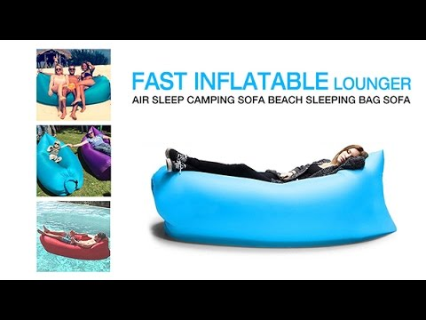 Fast Inflatable Lounger Air Sleep Camping Sofa Beach Sleeping Bag ...
