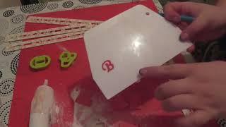 Как сделать буквы из мастики.Буквы из мастики.Как делать буквы из штампов