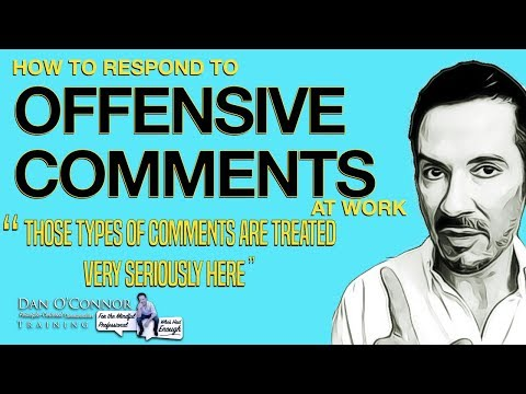 How To Respond To Offensive Comments At Work | Effective Communication Skills Training Lesson