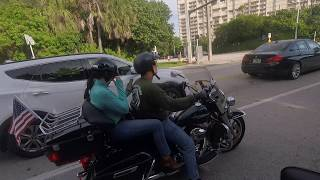 hd hawkeye motorcycle ride on a1a from boca to delray gopro