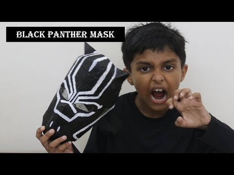 Make Black Panther Mask at home with Cardboard | Best Out of Waste - Avengers