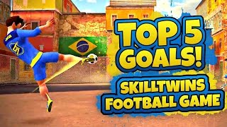 """SkillTwins Football Game"" TOP 5 Goals (Part 1) ★ 1 MILLION DOWNLOADS!"