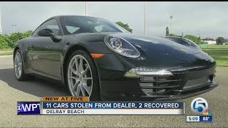 11 cars stolen from Delray Beach car dealer, 2 recovered