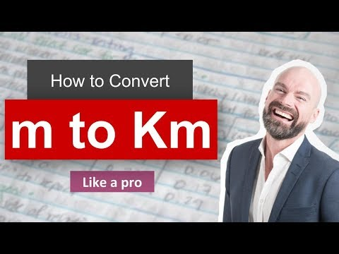Convert m to km (meter to kilometer) with Example