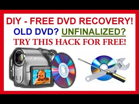 DIY How to recover  old DVD or restore unfinalized DVD for FREE video recovery