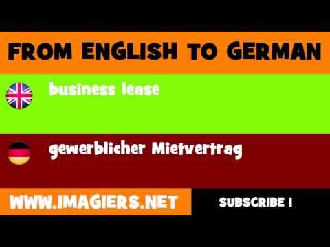 Deutsch Englisch Gewerblicher Mietvertrag Youtube