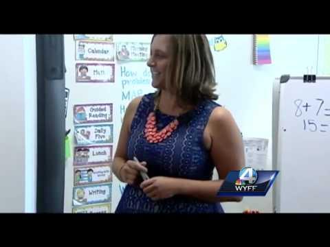 Taylors Elementary School teacher wins Golden Apple Award