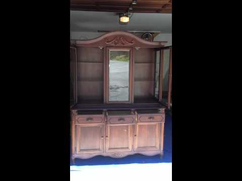 Rare Kimball Glassfront China Hutch For Sale