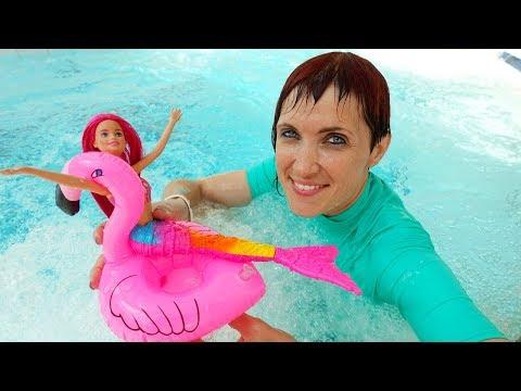 Маша Капуки и Русалочка в Аквапарке - Видео для детей