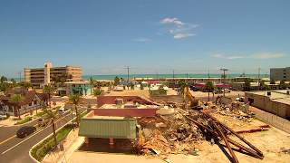 Historic Surf Demolition Downtown Cocoa Beach Aerial Drone Video