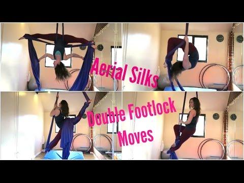 12 Aerial Silks Double Footlock Moves | UNIQUE AERIALISTS