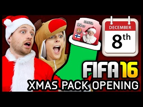 XMAS ADVENT CALENDAR PACK OPENING #8 - FIFA 16 ULTIMATE TEAM
