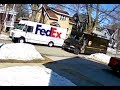 CAUGHT ON CAMERA - FedEx UPS Rivalry