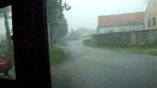 Bouře v Třebkově 13.7.2011