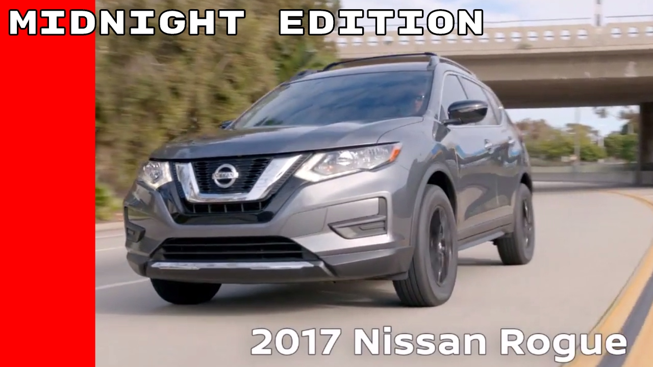 2017 nissan rogue midnight edition youtube. Black Bedroom Furniture Sets. Home Design Ideas