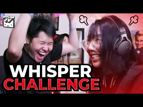 SHE FREAKED OUT! WHISPER CHALLENGE ft. Michael Reeves Pokimane Scarra LilyPichu DisguisedToast Fed