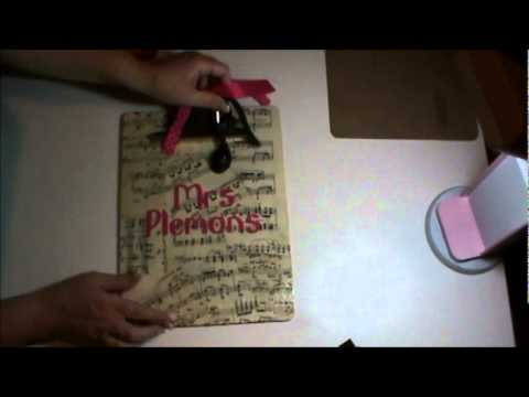 Episode 27--Back To School Teacher Gift: Personalized Clipboard