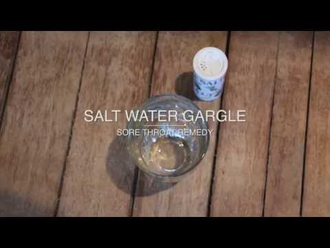 Sore Throat Remedy: Gargle Salt