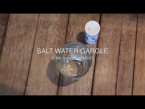 Sore Throat Remedy: Gargle Salt