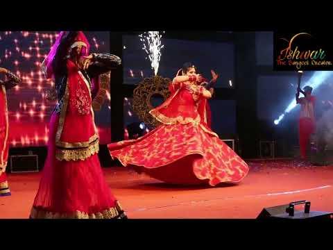 Best Ghoomar dance performance in sangeet create by ishwar the Sangeet creator  team