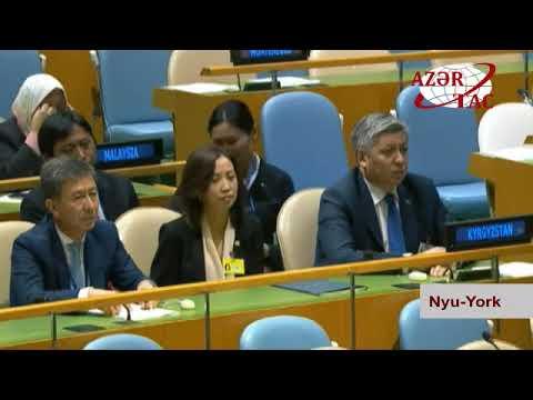 Prezident İlham Əliyev BMT nin Baş Assambleyasının 72 ci sessiyasının açılışında çıxış edib